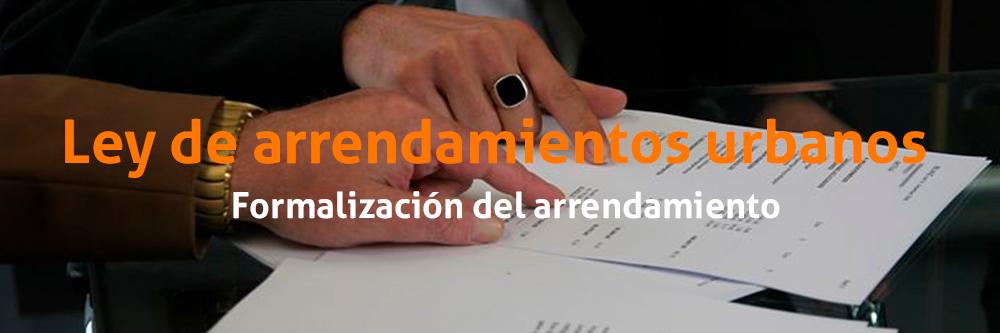 Formalización del contrato de alquiler